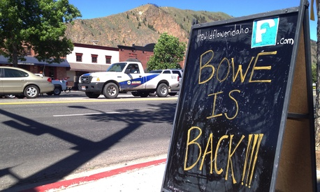 A sign celebrating Sgt. Bowe Bergdahl's release stands on a street in his hometown of Hailey, Idaho, on June 4, 2014.