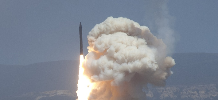 A Ground Base Interceptor launches from Vandenberg Air Force Base, Calif., on June 22, 2014.