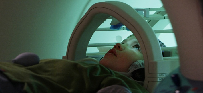 Nine-year-old Patrick Price enters an MRI machine for a brain scan, Thursday, Jan. 15, 2004, in Washington. Researchers at Stanford have developed a brain imaging technique that military researchers say could revolutionize neuroscience.