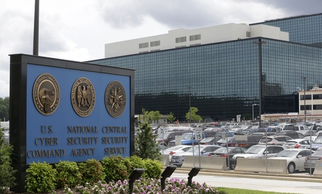 A photo of the National Security Agency campus at Fort Meade, Md..