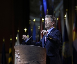 Sen. Rand Paul, R-Ky., speaks at the Conservative Political Action Committee annual conference in National Harbor, Md., on March 7, 2014.