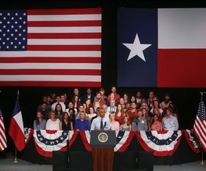 President Barack Obama, hounded by pressure to increase border security during his visit to Western states, spoke in Austin, Texas, Thursday, July 10, 2014.