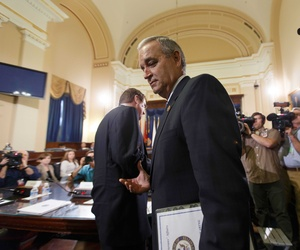 House Veterans' Affairs Committee Chair Rep. Jeff Miller, R-Fla., arrives for a hearing on Capitol Hill, on May 28, 2014.