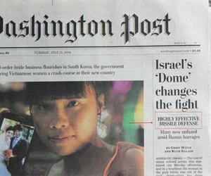 The front page of the Washington Post on July 15, 2014.