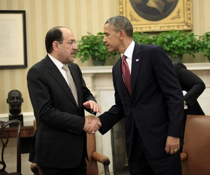 President Obama meets with Iraqi Prime Minister Nouri al-Maliki during a meeting in the Oval Office, on November 1, 2013.
