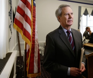 "Rep. Walter Jones, R-N.C., pictured here in Washington, D.C., on Dec. 19, 2012, is among the lawmakers who called the Obama administration's Overseas Contingency Operations funding request a ""slush fund"" Wednesday on Capitol Hill."