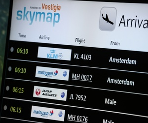 An electronic flight information board at Kuala Lumpur International Airport in Sepang, Malaysia, shows information on Malaysia Airlines Flight 17, on July 18, 2014.