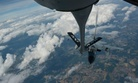 A KC-135 from RAF Mildenhall, England, refuels a German Tornado jet over Germany, on June 24, 2014.