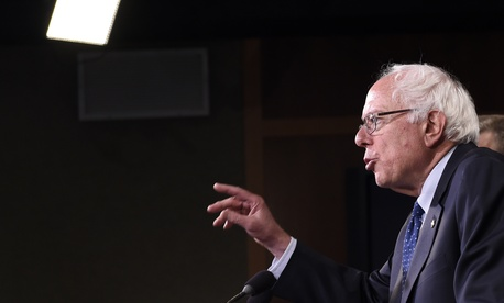 Sen. Bernie Sanders, I-Vt., speaks during a news conference on Capitol Hill about reforms to the VA, on July 24, 2014.