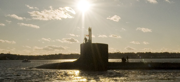 The USS Virginia departs for a six-week underway from Groton, Conn.