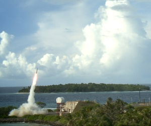 Two Terminal High Altitude Area Defense interceptors are launched, on September 10, 2013.