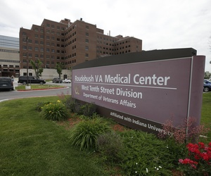 A photo of the outside of the Richard L. Roudebush Veterans Administration Medical Center in Indianapolis, Indiana.