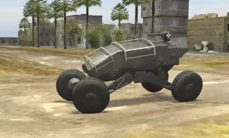 A screenshot of the Ground X Vehicle technology maneuvering.