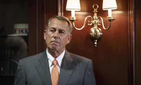 House Speaker Rep. John Boehner, R-Ohio, waits to speak on Capitol Hill on Tuesday.