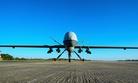 An MQ-9 Reaper sits on the flight line at Hurlburt Field, Fla, on May 3, 2014.