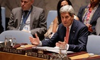 Secretary of State John Kerry speaks during a U.N. Security Council meeting to discuss the situation in Iraq, on September 19, 2014.