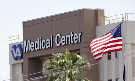 A photo of the outside of a Department of Veterans Affairs facility in Phoenix, Ariz., on May 17, 2014.
