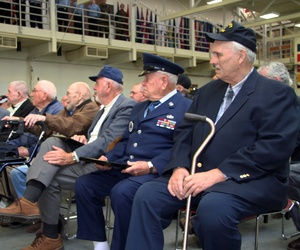 World War 2 and Vietnam War veterans receive Congressional Recognition during a ceremony in Portland, Oregon.