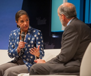 National Security Advisor Susan Rice speaks to Jerry Seib at the Washington Ideas Festival, on October 29, 2014.