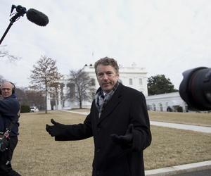 Sen. Rand Paul, R-Ky. talks to media outside the White House in Washington, Thursday, Jan. 9, 2014.