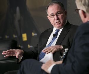Undersecretary of Defense for Intelligence Michael Vickers speaks to Gordon Lubold at the 2014 Defense One Summit.