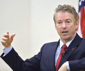 Kentucky Senator Rand Paul speaks to the Chase Federalist Society at Northern Kentucky University, Friday, Nov. 21, 2014