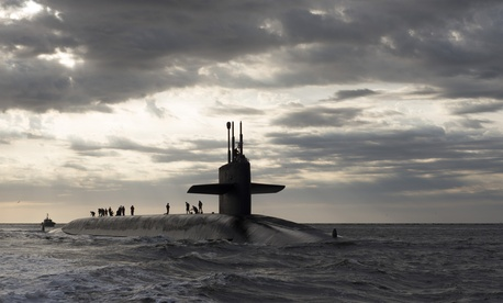 The USS Rhode Island returns to Naval Submarine Base Kings Bay after three months at sea.