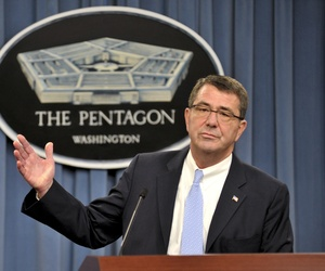 Ashton Carter, as deputy defense secretary, at the Pentagon in November 2013.