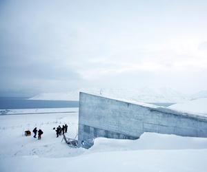 """The Svalbard Global Seed """"Doomsday"""" Vault built to withstand an earthquake or nuclear strike is seen on Feb. 25, 2008 in Longyearbyen, Norway."""