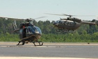 Two Louisiana National Guard UH-72 Lakota helicopters.