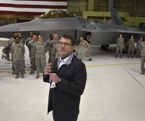 Then Deputy Secretary of Defense Ashton Carter visits troops at Joint Base Elmandorf, Alaska, on March 21, 2013.