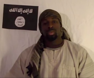 In this screenshot, Amedy Coulibaly pledges his allegiance to the Islamic State.