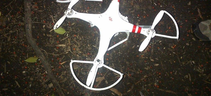 This handout photo provided by the US Secret Service shows the drone that crashed onto the White House grounds in Washington, Monday, Jan. 26, 2015
