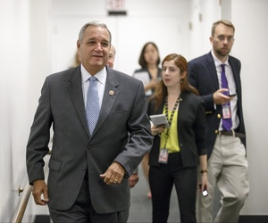 House Veterans Affairs Committee Chairman Rep. Jeff Miller, R-Fla., leaves a Republican caucus meeting, on July 25, 2014.