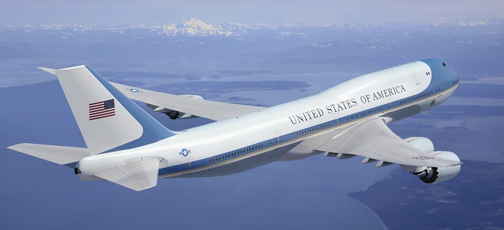 The next Air Force One, a Boeing 747-8, will likely look like this.