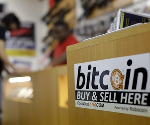 A man in Austin, Texas, attempts to purchase two guns from a store which accepts bitcoin for payment.