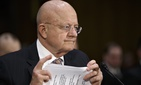 Director of National Intelligence James Clapper testifies on Capitol Hill in Washington, Thursday, Feb. 26, 2015, before the Senate Armed Services Committee to deliver the annual assessment by intelligence agencies.