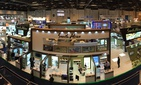 Part of the massive exhibit hall at the IDEX arms show in Abu Dhabi.