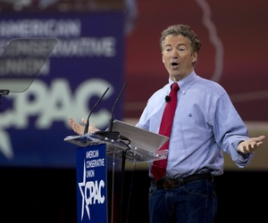 Sen. Rand Paul, R-Ky. speaks during the Conservative Political Action Conference (CPAC) in National Harbor, Md., Friday, Feb. 27, 2015.