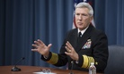 U.S. Navy Adm. Samuel J. Locklear III, the commander of U.S. Pacific Command, conducts a press briefing at the Pentagon in Arlington, Va., Jan. 23, 2014.