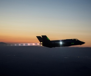 An F-35 Integrated Test Force completes a series of night flights, on December 27, 2013.