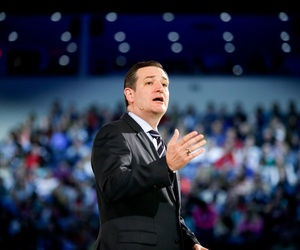 Sen. Ted Cruz, R-Texas., announces his candidacy for president during a speech at LIberty University, in Lynchburg, Va., on March 23, 2015.