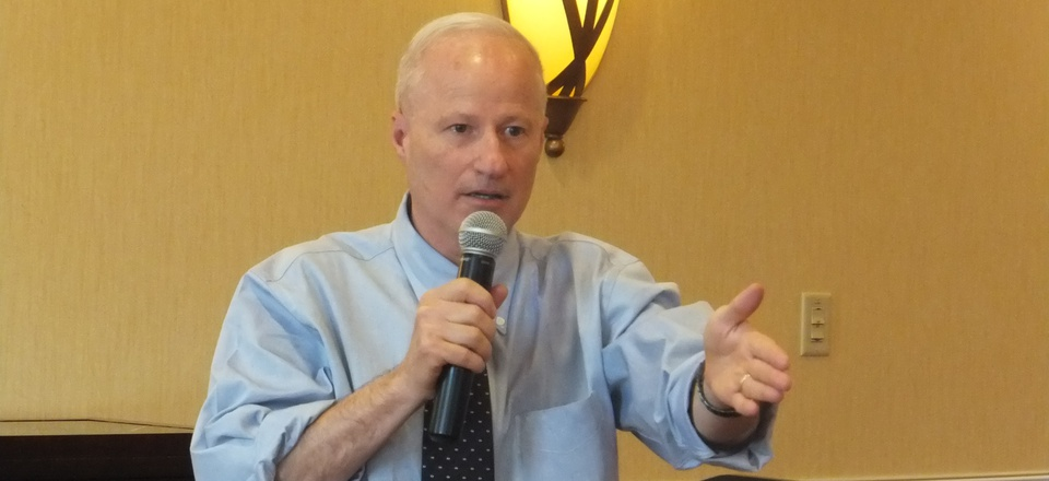 Rep. Mike Coffman, R-Colo., speaks to voters in his Colorado district.