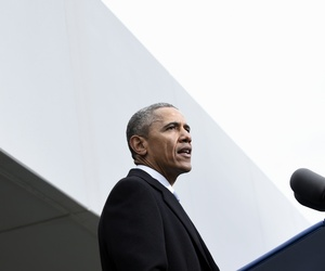 President Barack Obama speaks at the dedication of the Edward M. Kennedy Institute for the United States Senate, Monday, March 30, 2015.
