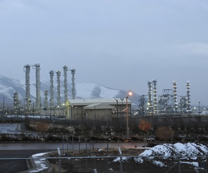In this Jan. 15, 2011 file photo, Iran's heavy water nuclear facility is backdropped by mountains near the central city of Arak, Iran.