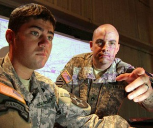 Soldiers utilize DCGS-A, operations center at Aberdeen Proving Ground, Md. during the Tactical Cloud Integration Lab in an effort to expedite cloud computing technologies to the Soldier.