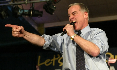 Democratic presidential hopeful former Vermont Gov. Howard Dean addresses supporters during his caucus night party in West Des Moines, Iowa, Monday, Jan. 19, 2004.