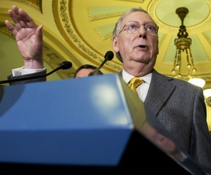 Senate Majority Leader Mitch McConnell, R-Ky., said big fights are needed to counter the Obama administration's overreach.