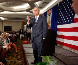 Sen. Lindsey Graham, R-S.C., speaks at the Republican Leadership Summit, April 18, 2015, in Nashua, N.H.