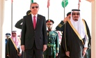 Turkey's President Recep Tayyip Erdogan meets with Saudi King Salman during a ceremony in Riyadh, on March 2, 2015.